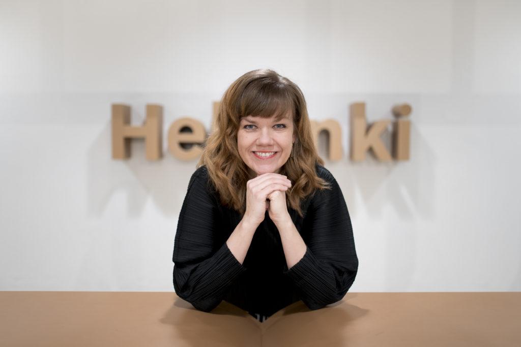 Helsingin designjohtaja Hanna Harris. Kuva: Sakari Röyskö